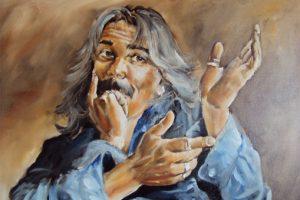 Self portrait with three expressions philip watkin